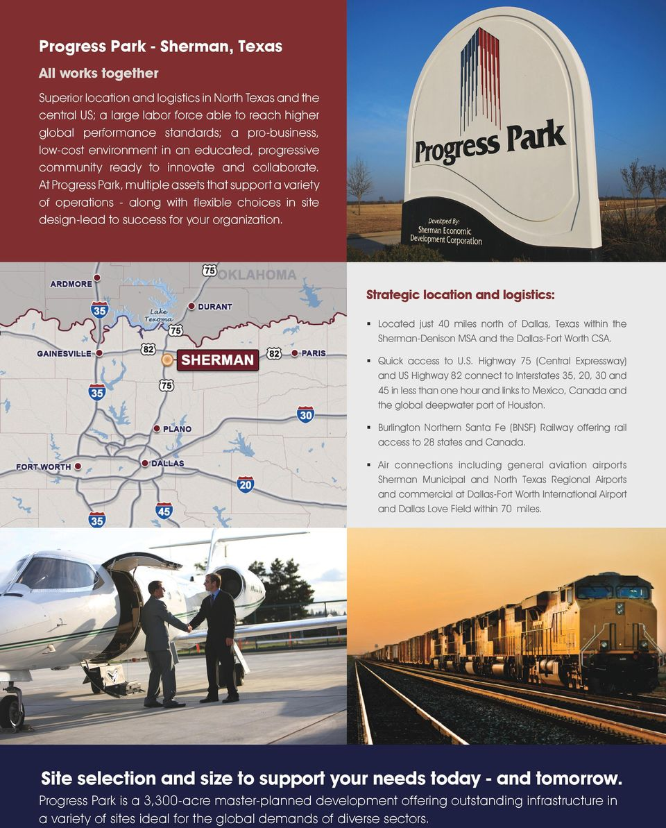 At Progress Park, multiple assets that support a variety of operations - along with flexible choices in site design-lead to success for your organization.