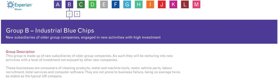 As such they will be venturing into new activities with a level of investment not enjoyed by other new companies.