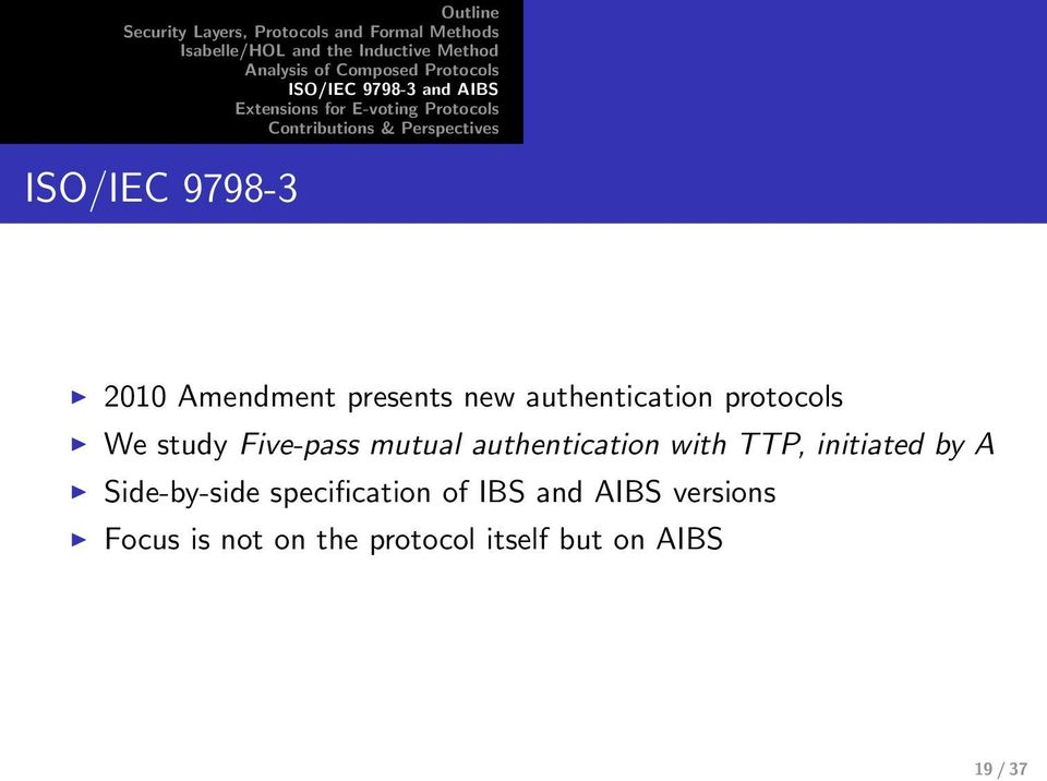 initiated by A Side-by-side specification of IBS and AIBS