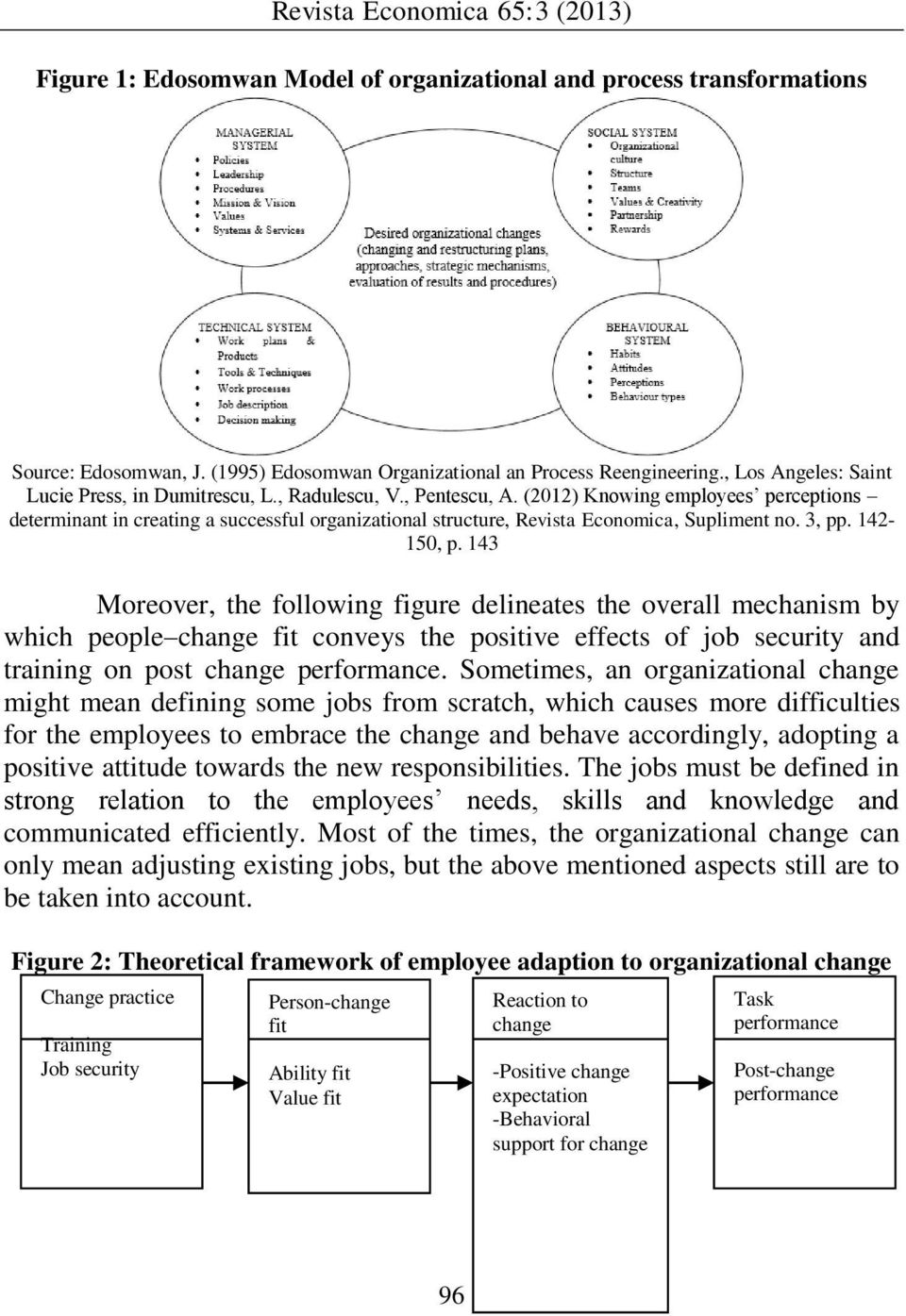 (2012) Knowing employees perceptions determinant in creating a successful organizational structure, Revista Economica, Supliment no. 3, pp. 142-150, p.