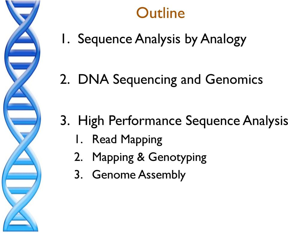 ! High Performance Sequence Analysis 1.