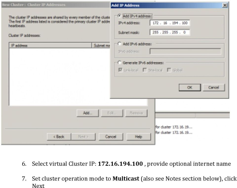 Set cluster operation mode to Multicast