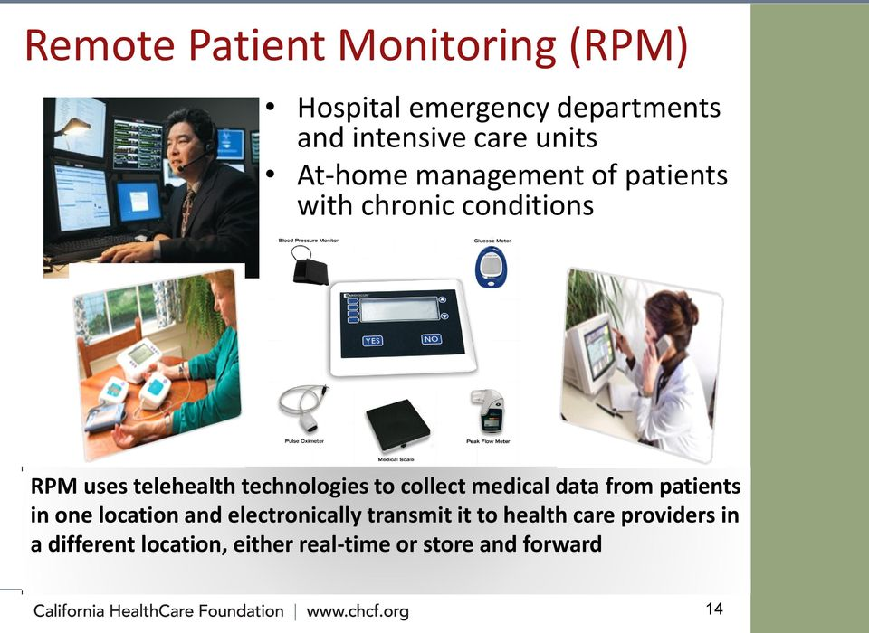 to collect medical data from patients in one location and electronically transmit it to
