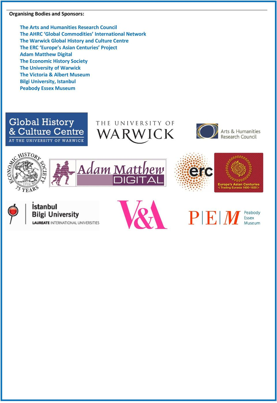 Europe s Asian Centuries Project Adam Matthew Digital The Economic History Society The