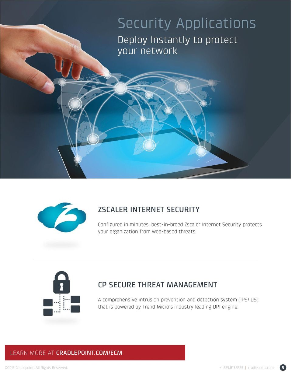 CP SECURE THREAT MANAGEMENT A comprehensive intrusion prevention and detection system (IPS/IDS) that