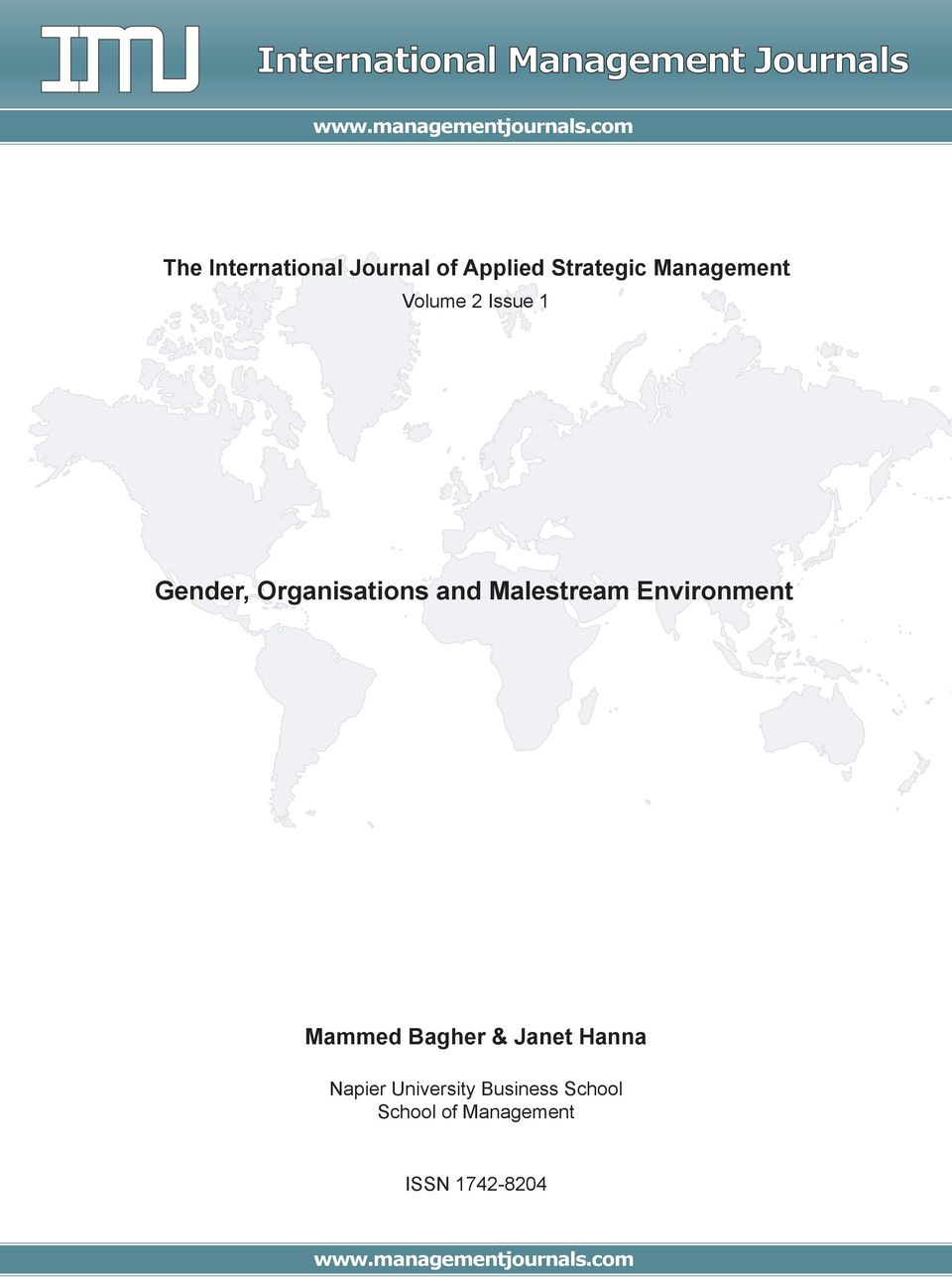 1 Gender, Organisations and Malestream Environment Mammed Bagher & Janet