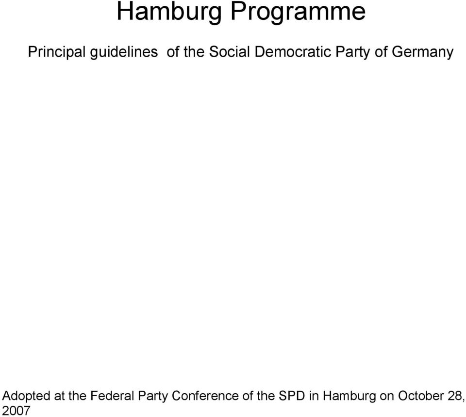 Germany Adopted at the Federal Party