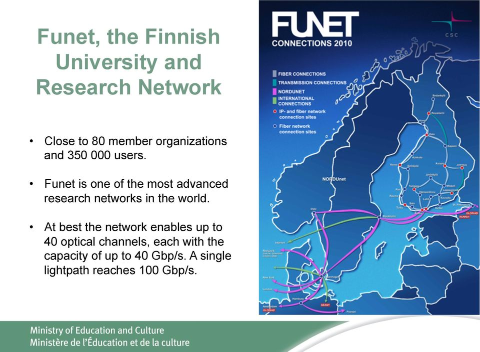 Funet is one of the most advanced research networks in the world.