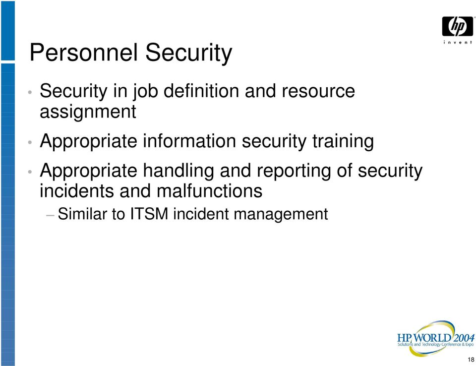 training Appropriate handling and reporting of security