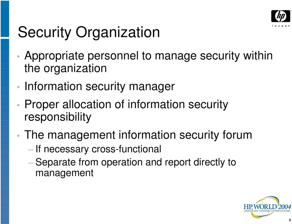 security responsibility The management information security forum If