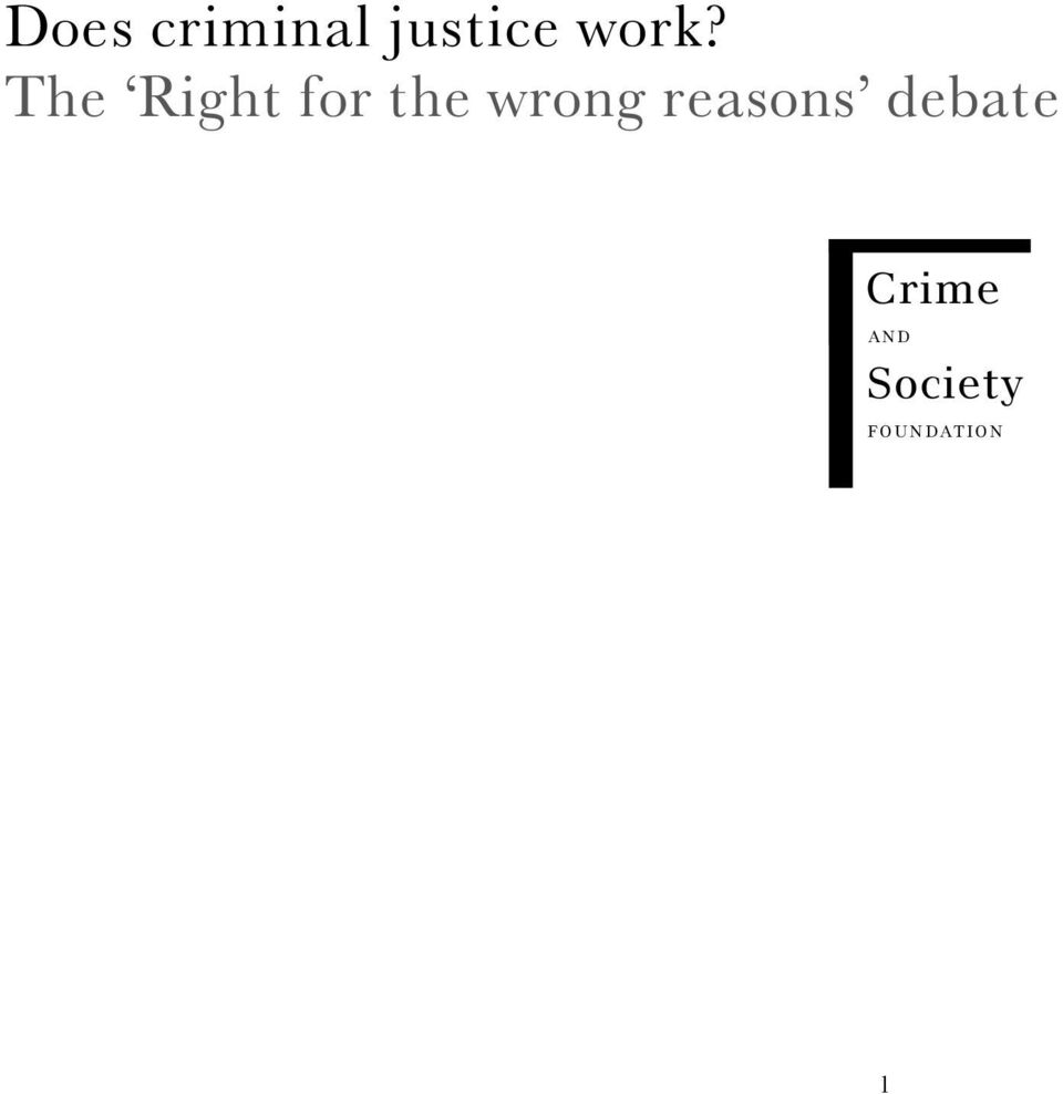 reasons debate Crime A N D