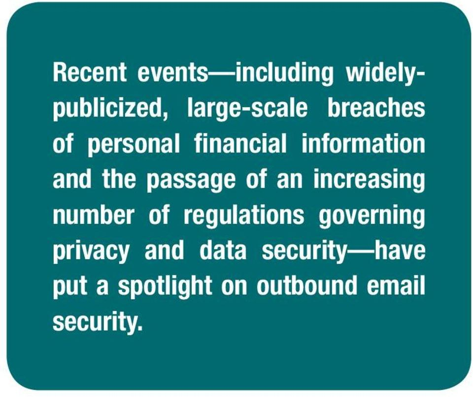 of an increasing number of regulations governing privacy