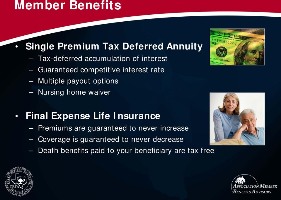 waiver Final Expense Life Insurance Premiums are guaranteed to never increase