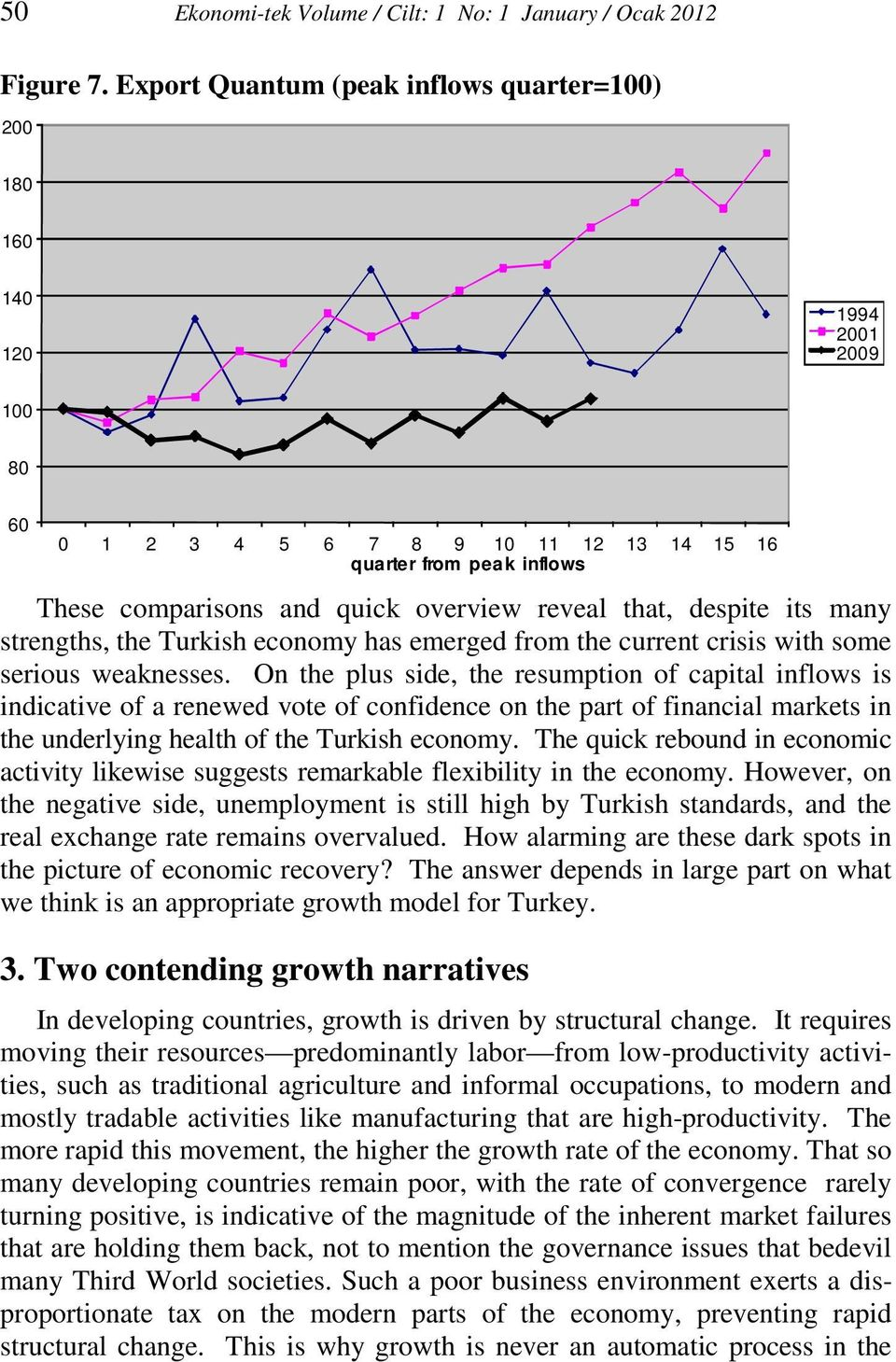 that, despite its many strengths, the Turkish economy has emerged from the current crisis with some serious weaknesses.