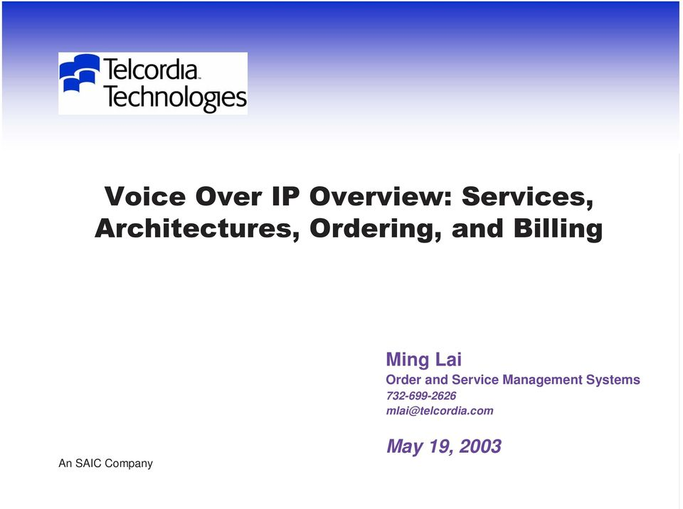 Lai Order and Service Management Systems