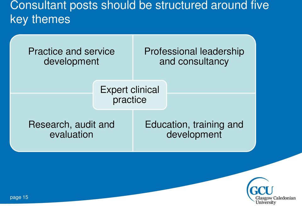 leadership and consultancy Expert clinical practice
