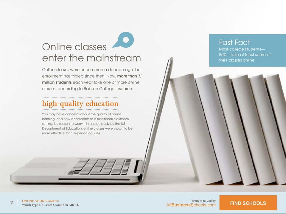1 million students each year take one or more online classes, according to Babson College research.