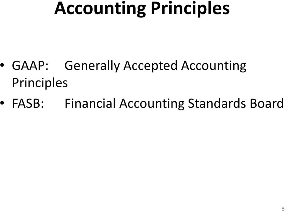 Accounting Principles FASB: