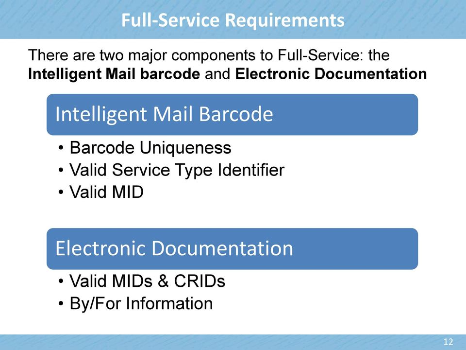 Documentation Intelligent Mail Barcode Barcode Uniqueness Valid