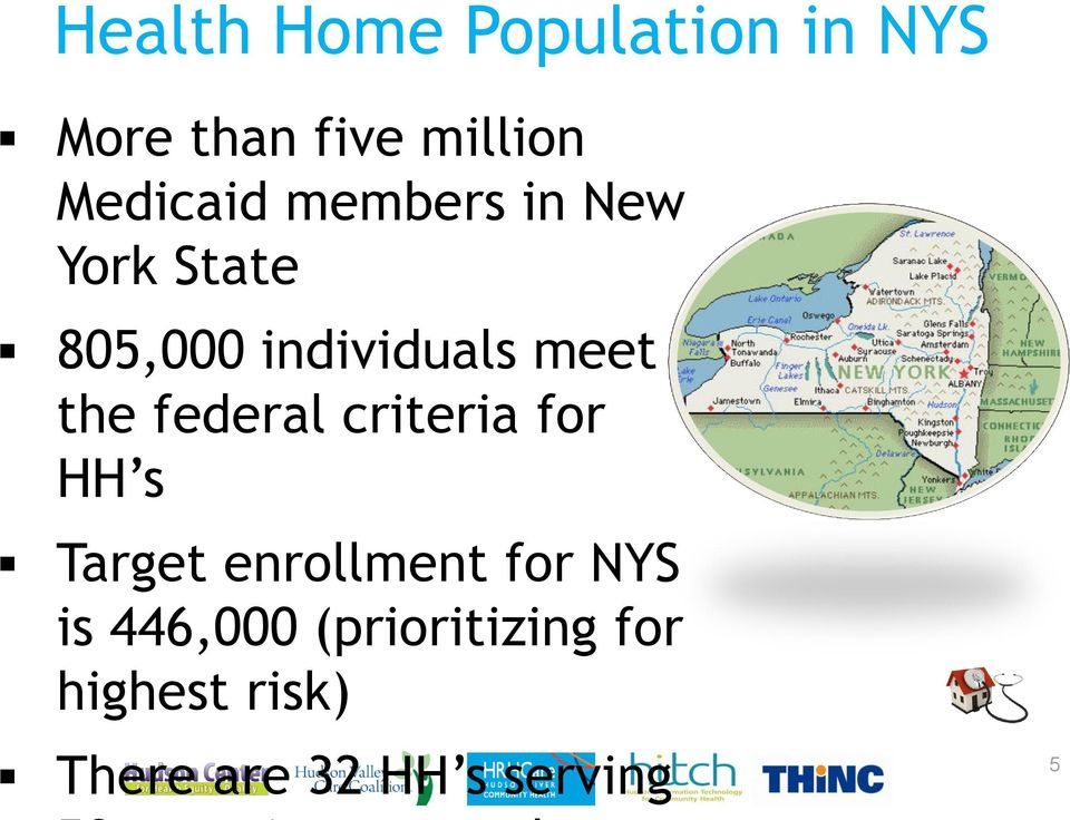 the federal criteria for HH s Target enrollment for NYS is