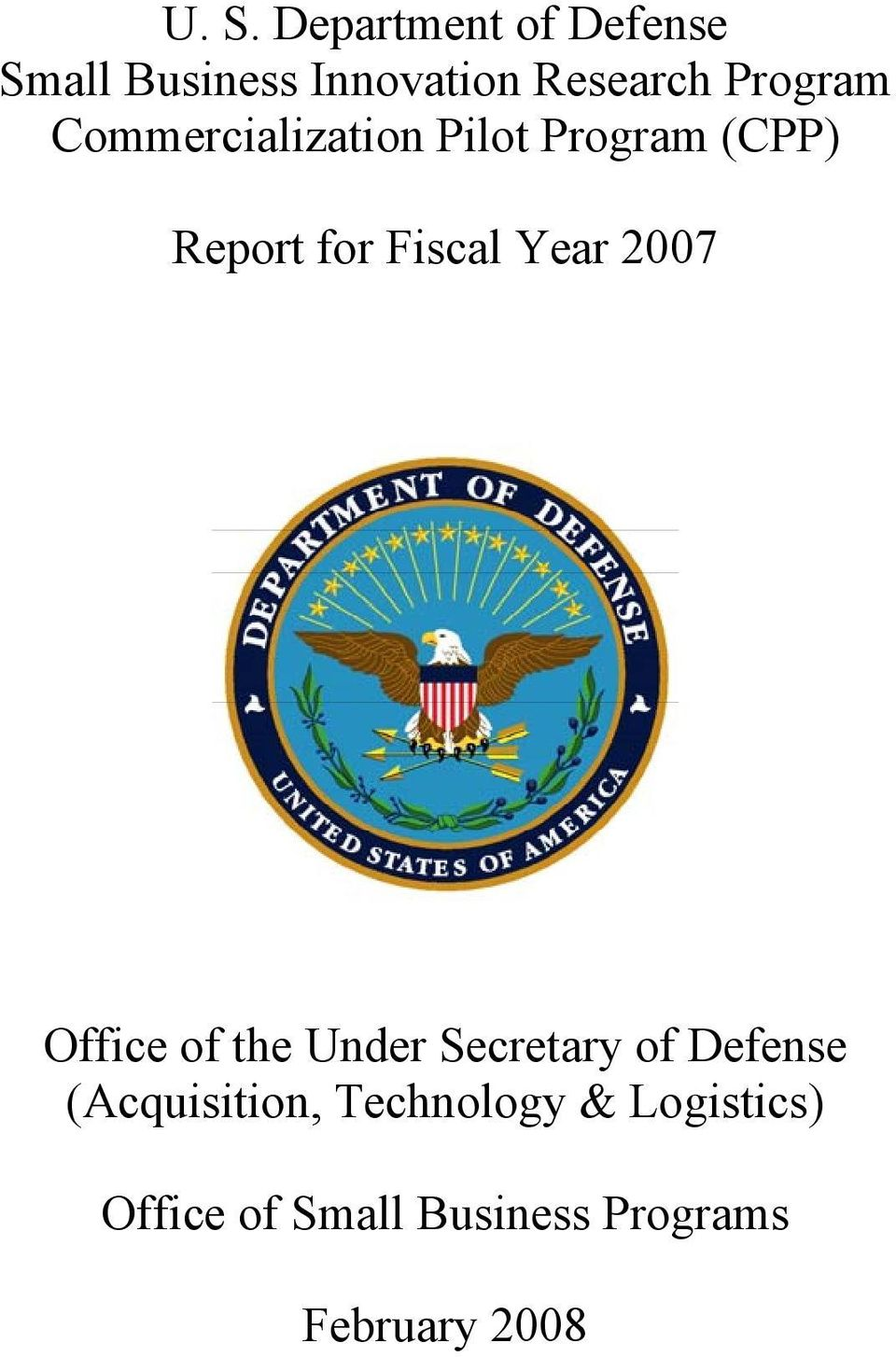 Year Office of the Under Secretary of Defense (Acquisition,