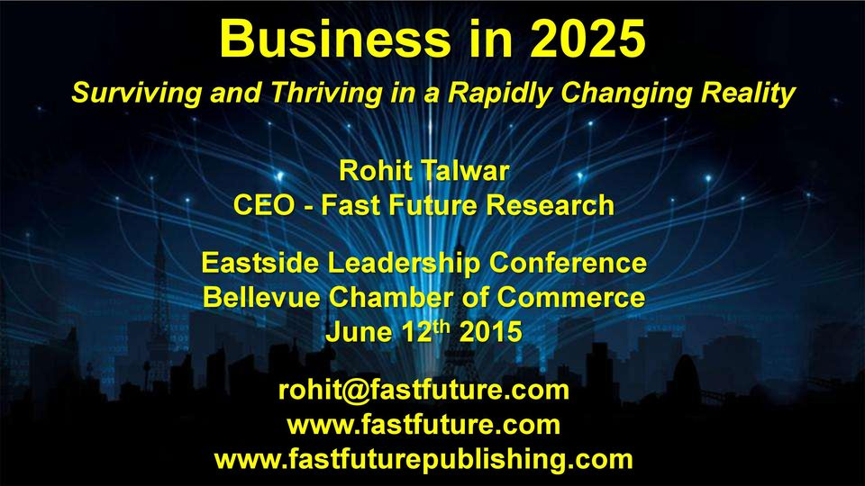 Leadership Conference Bellevue Chamber of Commerce June 12 th