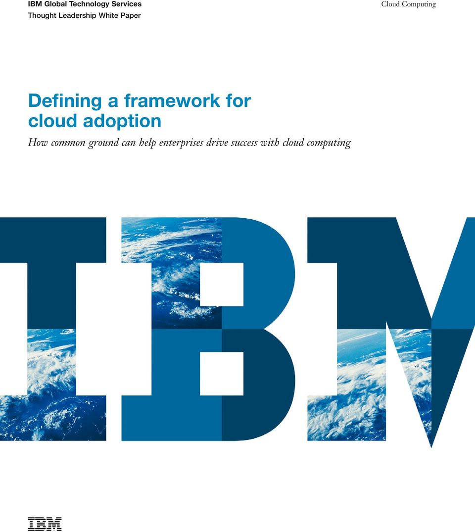 for cloud adoption How common ground can
