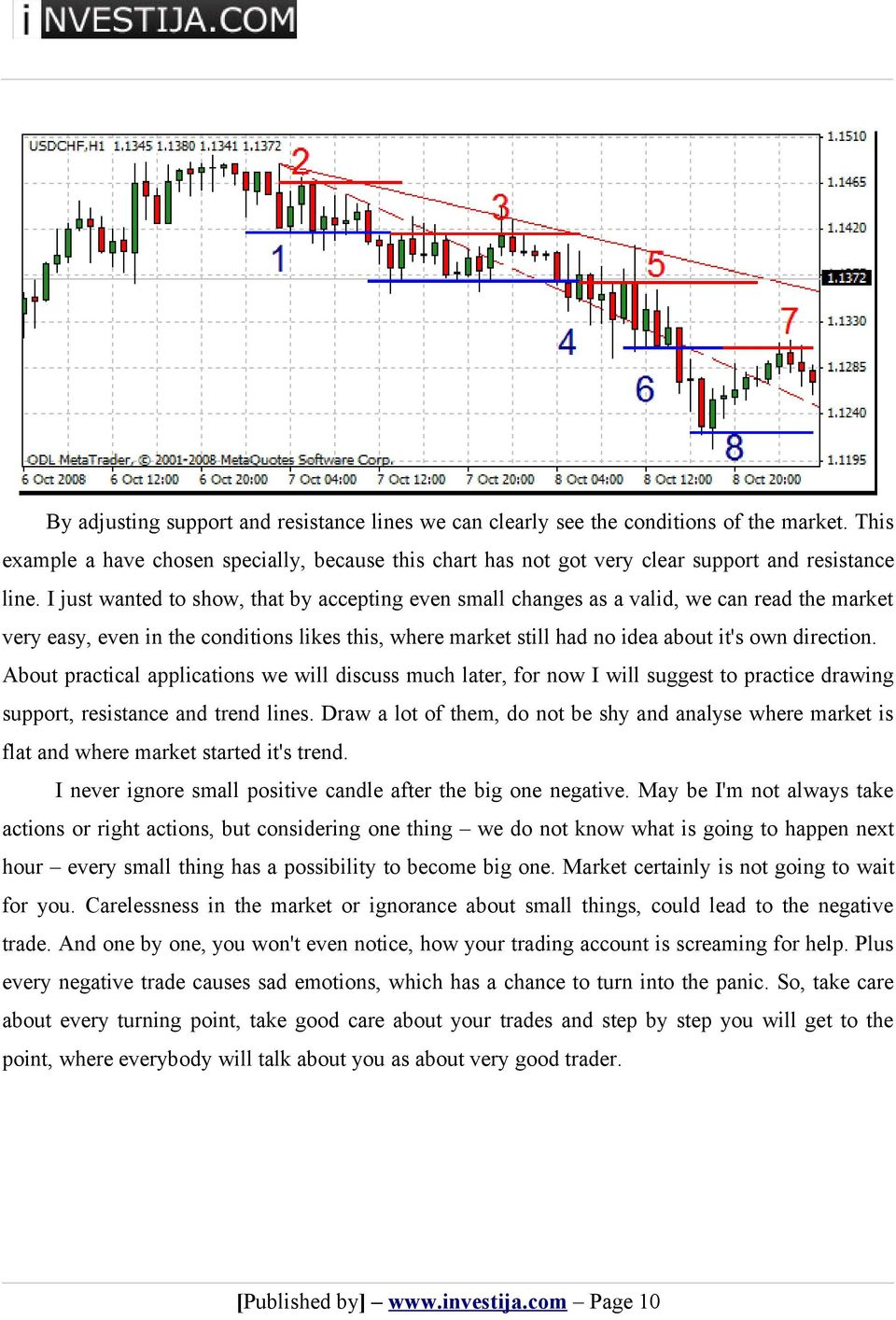 About practical applications we will discuss much later, for now I will suggest to practice drawing support, resistance and trend lines.