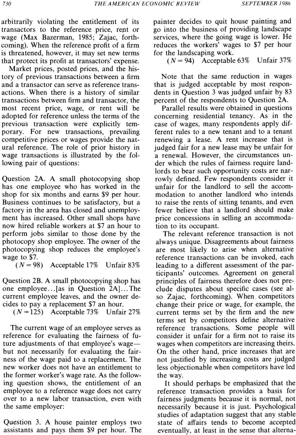 Market prices, posted prices, and the history of previous transactions between a firm and a transactor can serve as reference transactions.