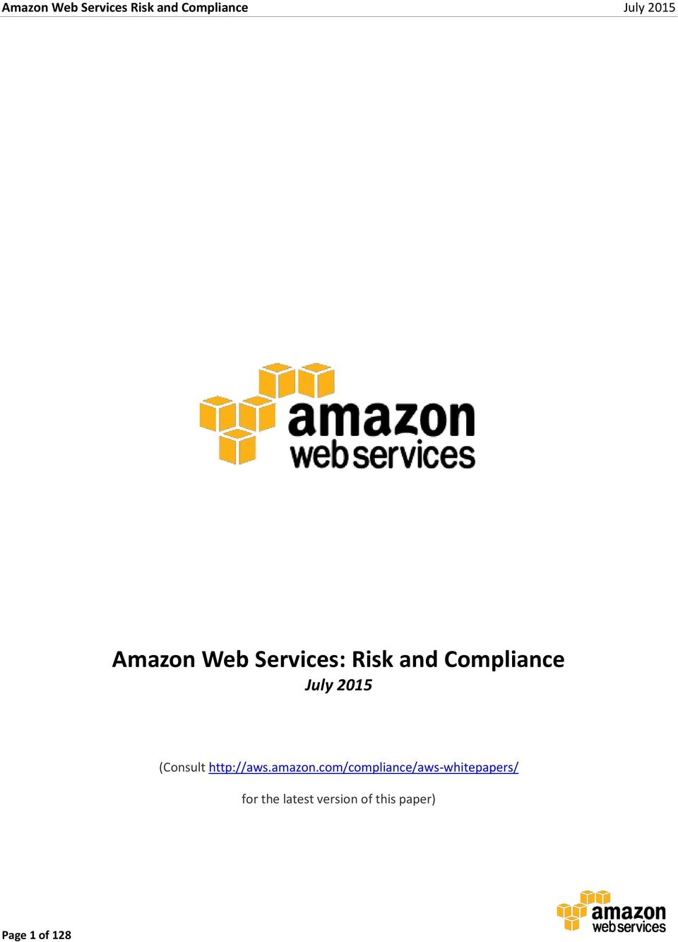 com/compliance/aws-whitepapers/ for the