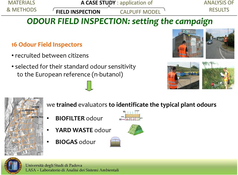 European reference (n-butanol) we trained evaluators to identificate