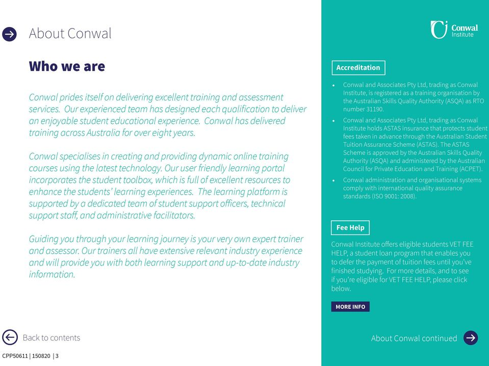 Conwal specialises in creating and providing dynamic online training courses using the latest technology.