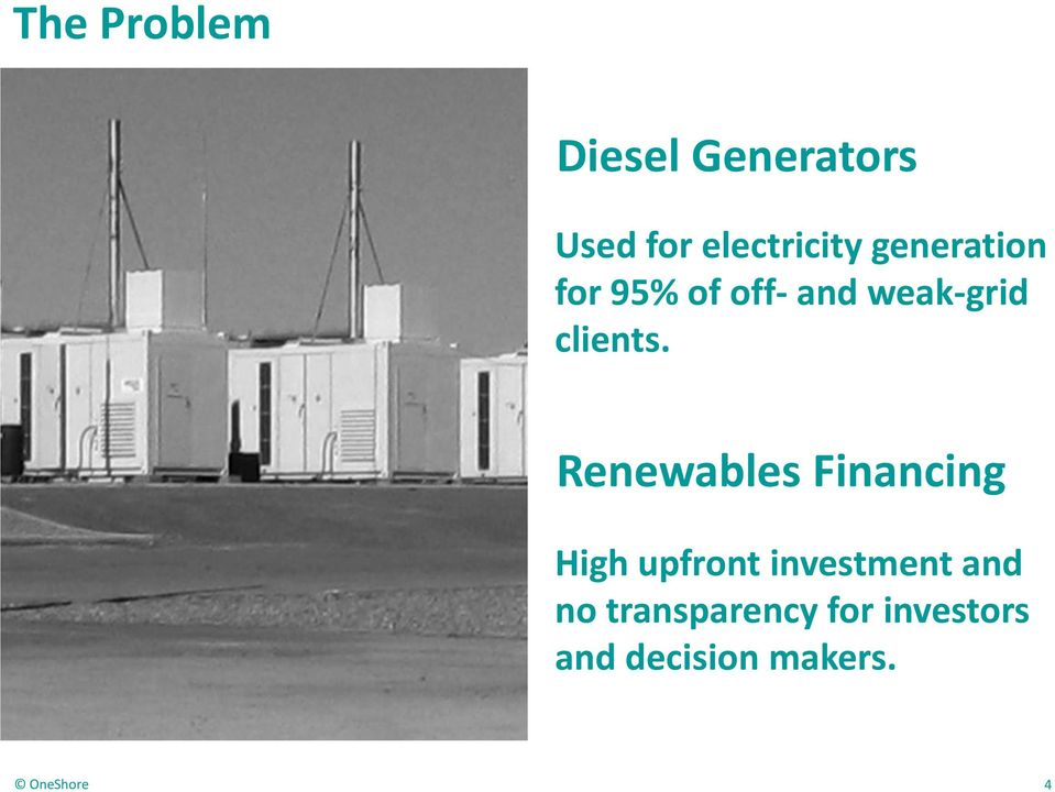 Renewables Financing High upfront investment and