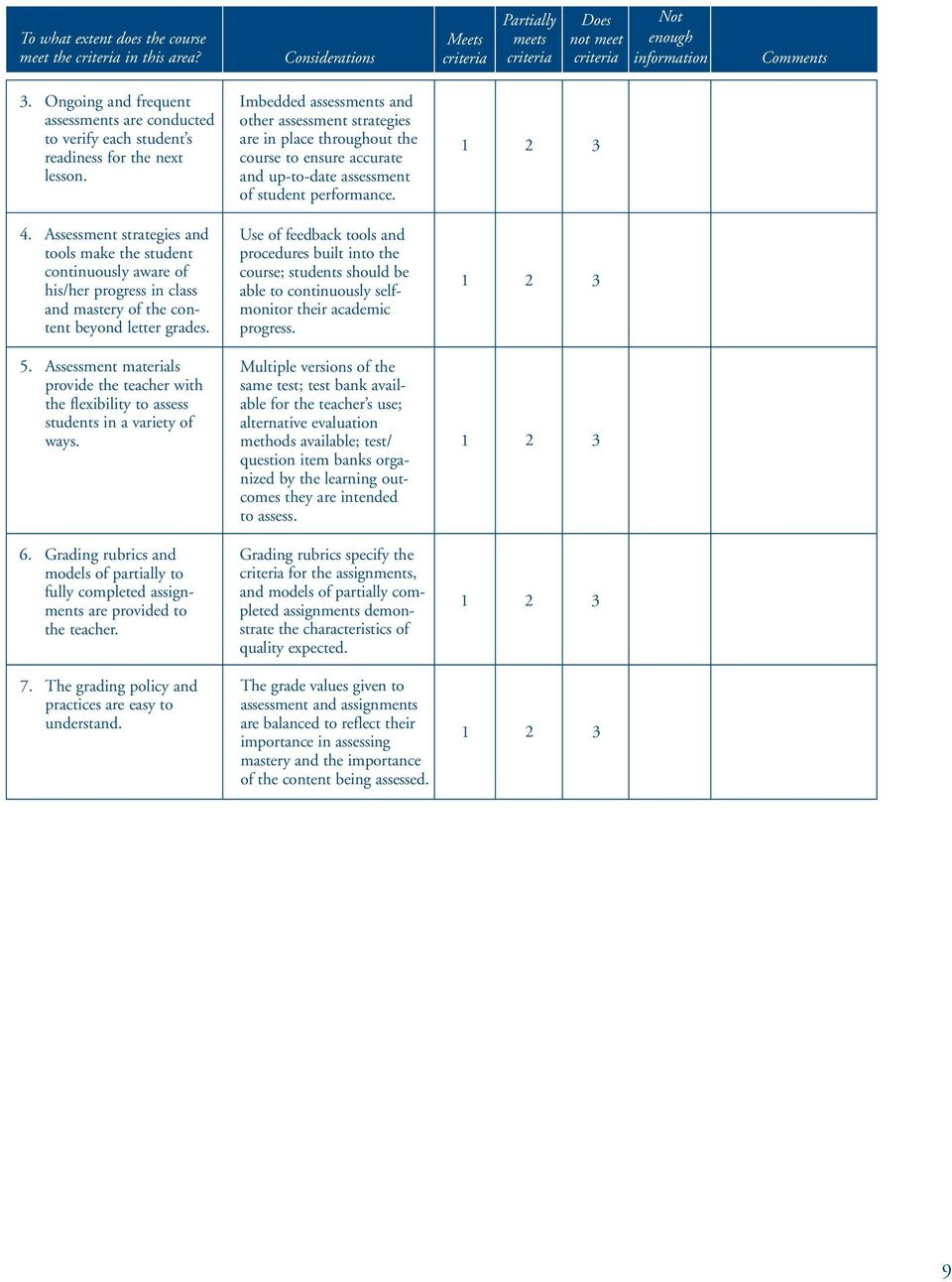 Assessment materials provide the teacher with the flexibility to assess students in a variety of ways. 6.