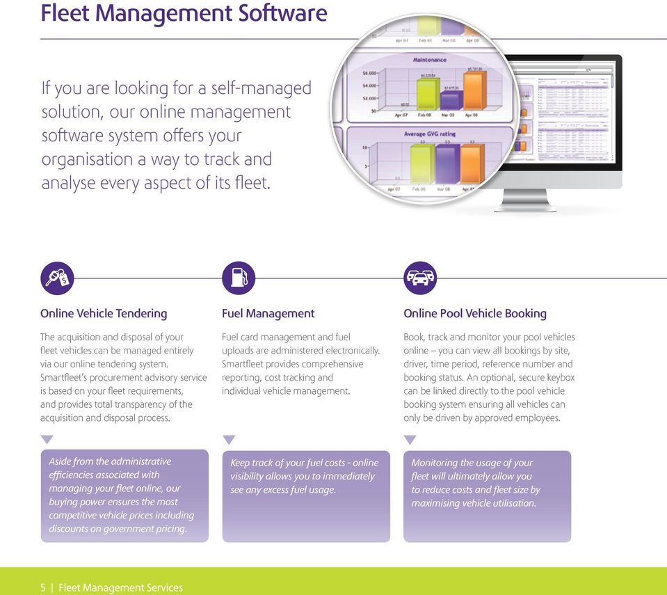 Smartfleet s procurement advisory service is based on your fleet requirements, and provides total transparency of the acquisition and disposal process.