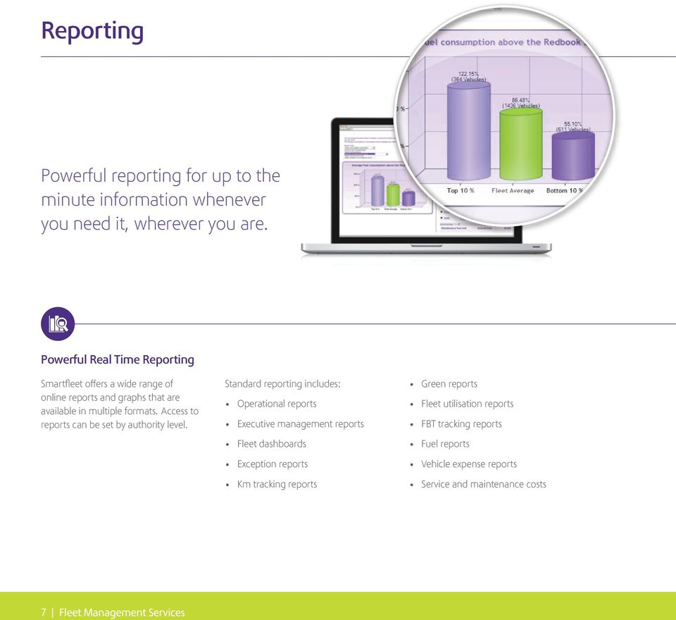Access to reports can be set by authority level.