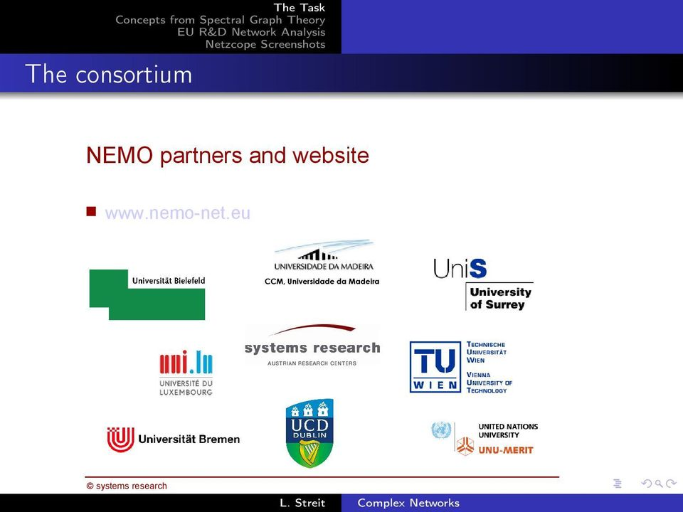 NEMO partners and website www.nemo-net.