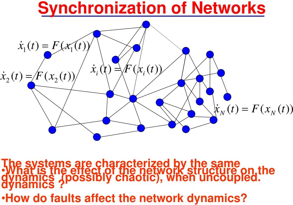 same What is the effect of the network structure on the dynamics (possibly