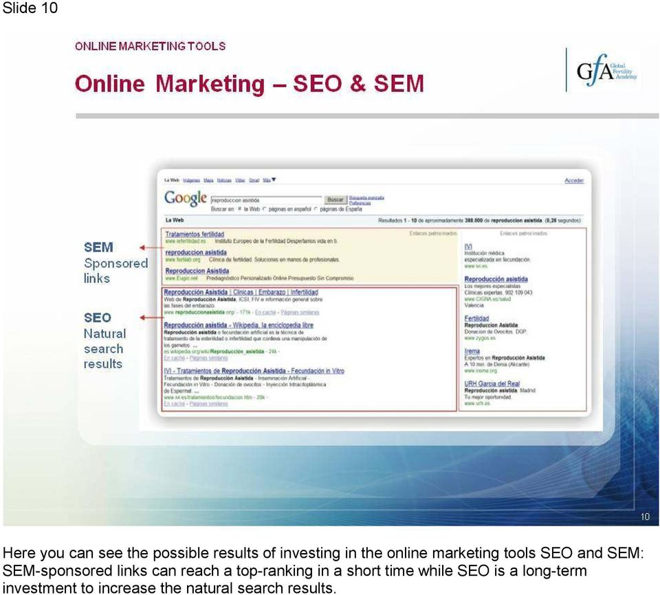 links can reach a top-ranking in a short time while SEO is
