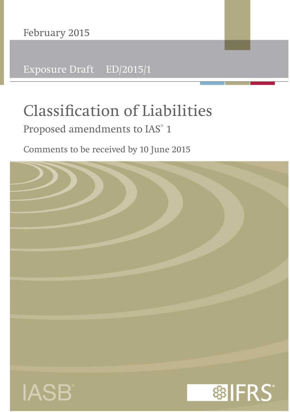 Liabilities Proposed amendments to