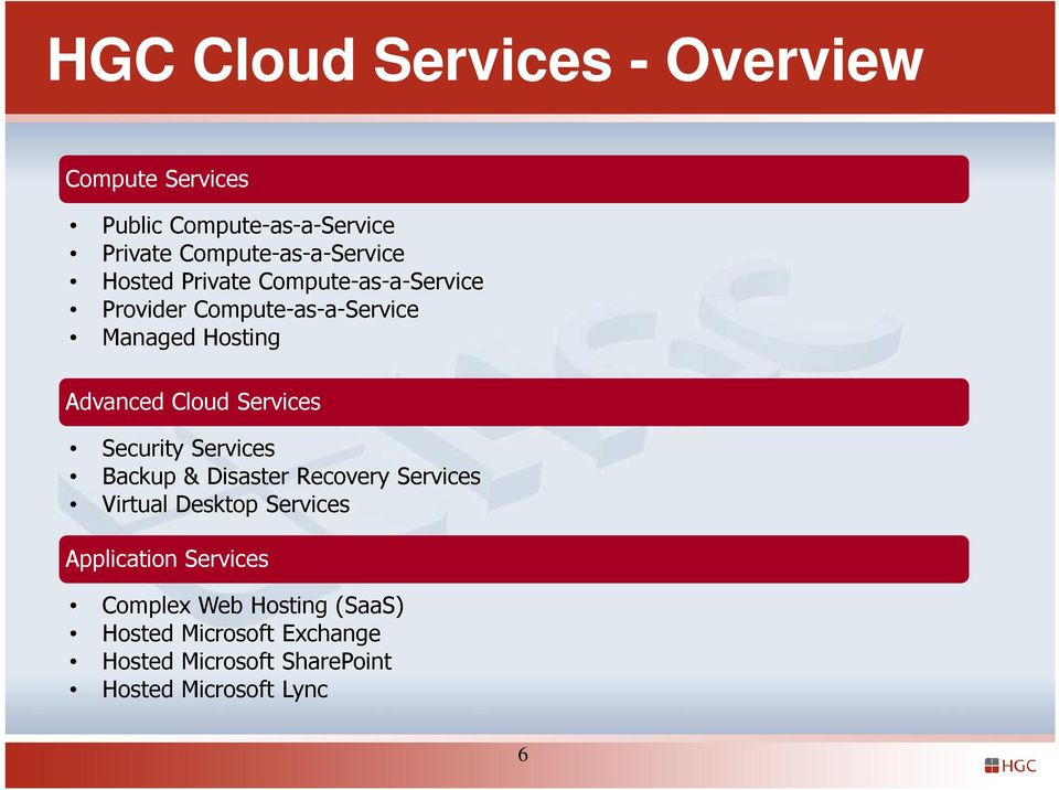 Services Security Services Backup & Disaster Recovery Services Virtual Desktop Services Application