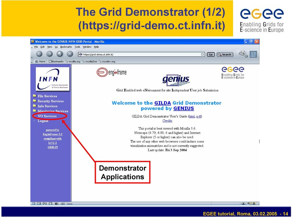 it) Demonstrator Applications