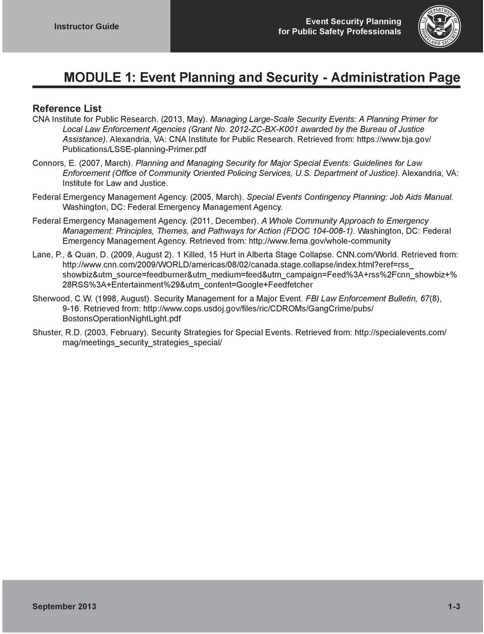 MGT 335: Event Security Planning for Public Safety Professionals - PDF