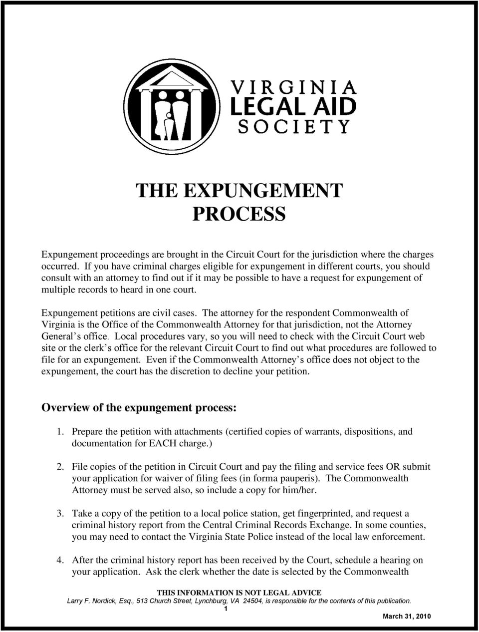 to heard in one court. Expungement petitions are civil cases.
