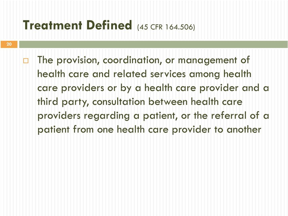 services among health care providers or by a health care provider and a third