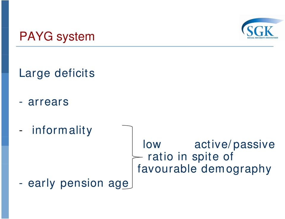 pension age low active/passive
