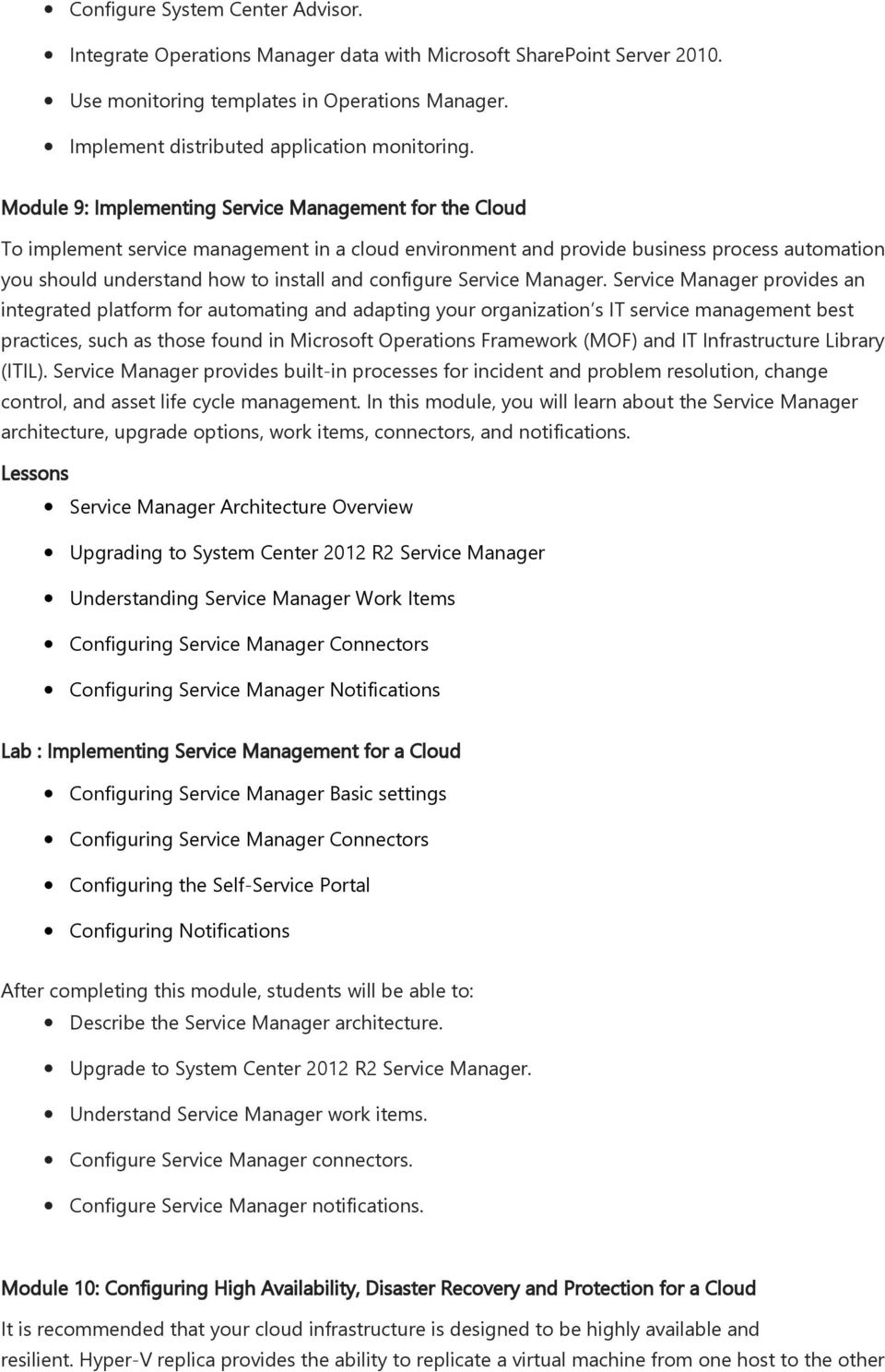 configure Service Manager.