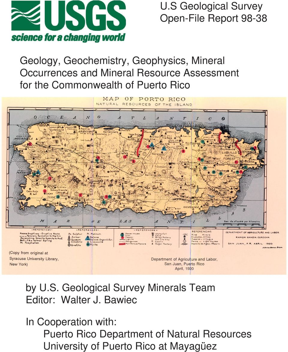 Rico by U.S. Geological Survey Minerals Team Editor: Walter J.