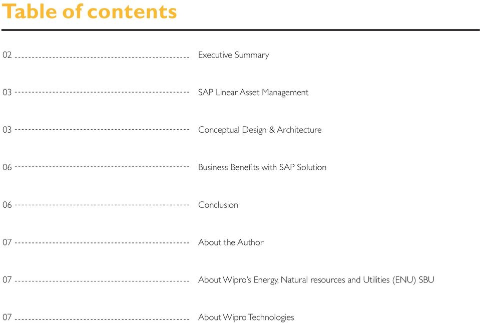 with SAP Solution 06 Conclusion 07 About the Author 07 About Wipro s