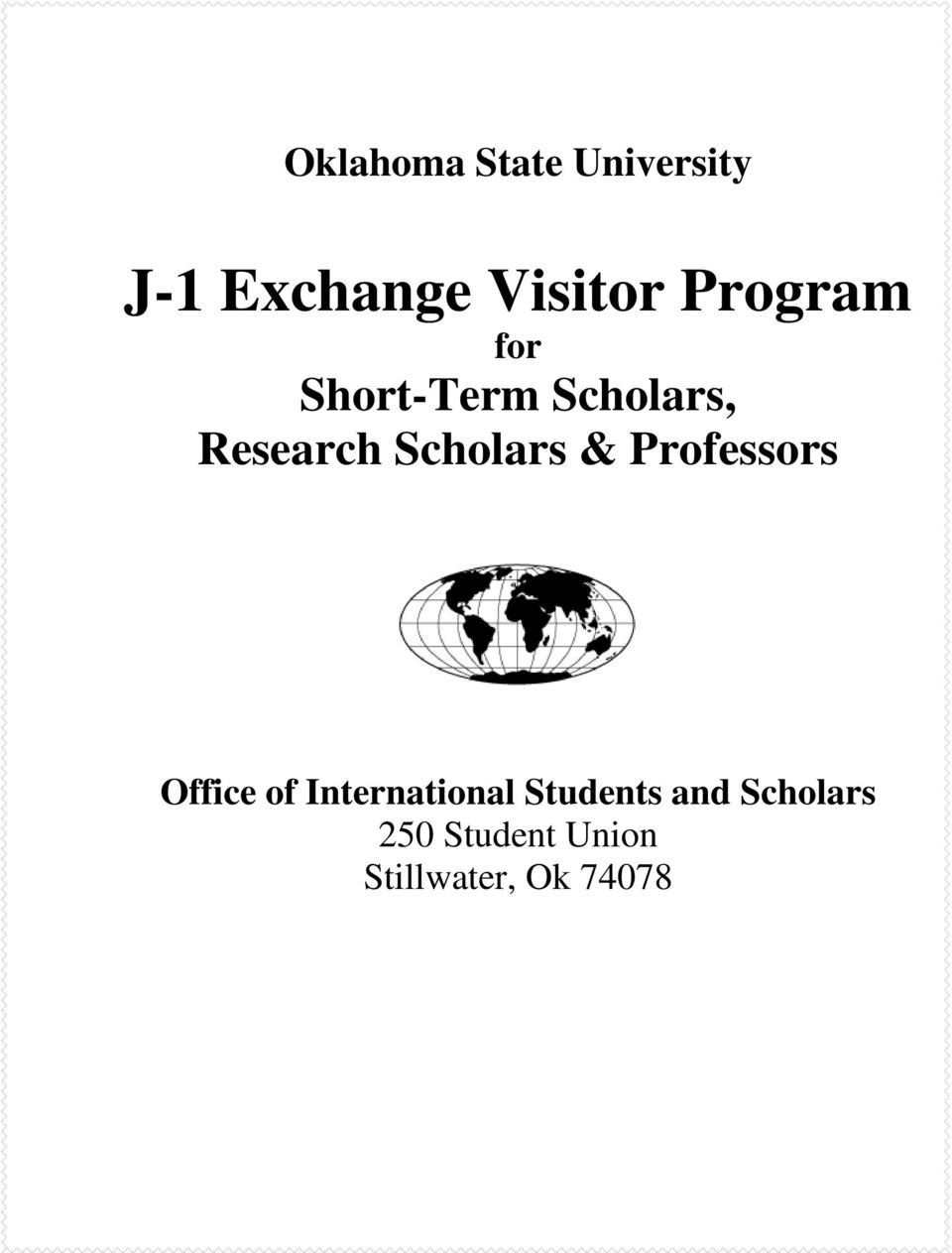 Scholars & Professors Office of International